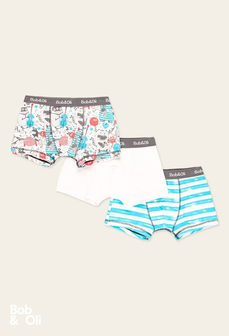 Pack 3 boxers for boy - organic_1