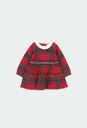 Vestido viella quadros para o bebé menina_1