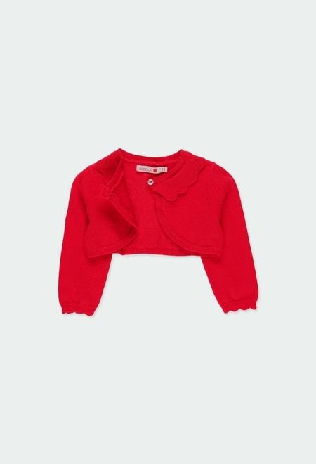 Knitwear bolero for baby girl_1