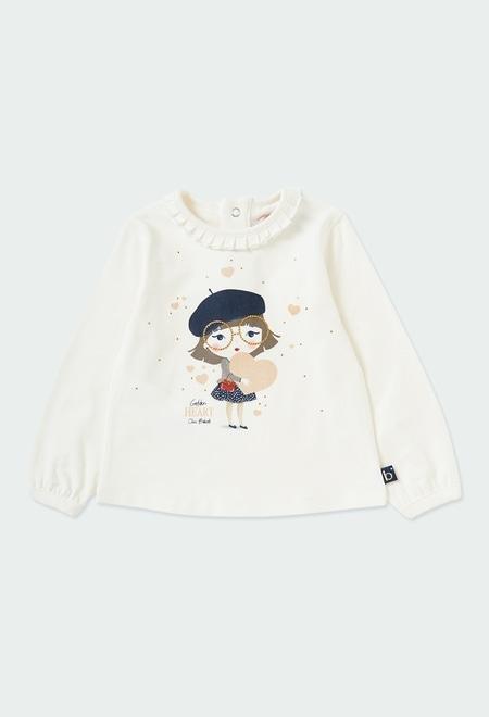 T-Shirt gestrickt elastisch für baby mädchen_1