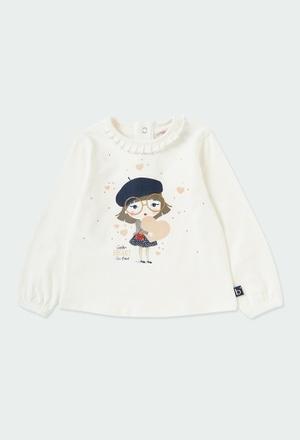 Camiseta punto elástico de bebé niña_1