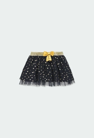 Skirt with gauze hearts for baby girl_1