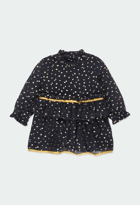 Chiffon dress hearts for baby girl_1