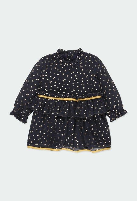 Kleid mull herzen für baby mädchen_1