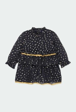Vestido gasa corazones de bebé niña_1