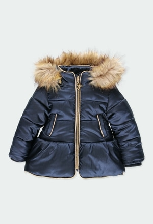 Technical fabric parka for baby girl_1