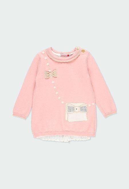 """Vestido tricotosa """"bolso"""" de bebé niña_1"""