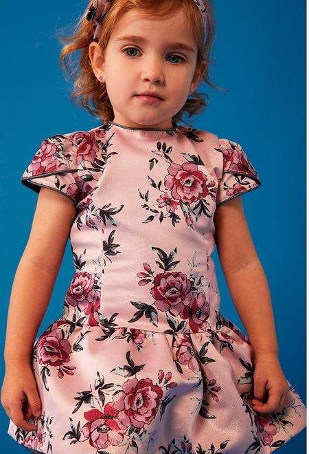 """Robe fantasie """"a fleurs"""" pour bébé fille_1"""