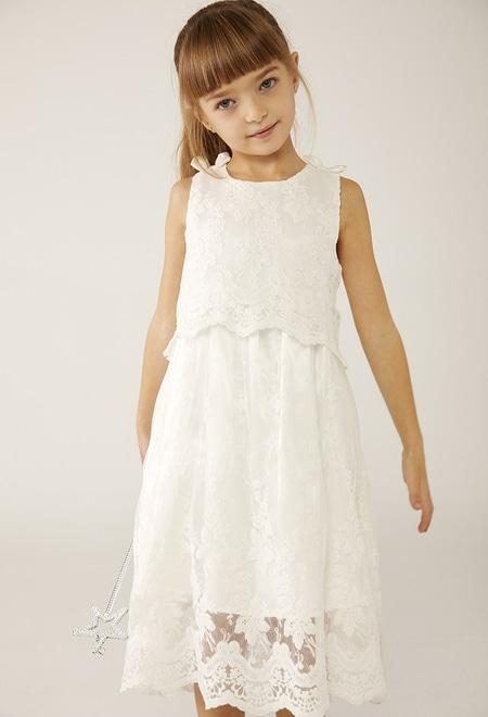 Vestido tul bordado de bebé niña_1