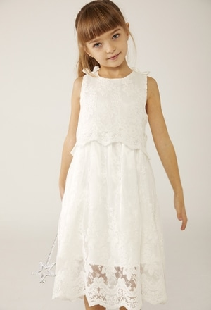 Tulle dress embroidery for baby girl_1