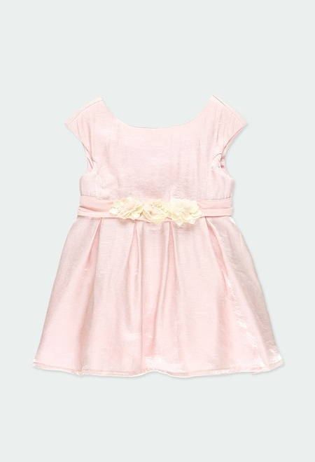 Vestido crepe raso de bebé niña_1