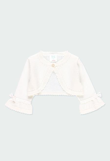 Boléro tricot pour bébé fille_1
