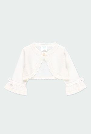 Bolero tricotosa con lazo de bebé niña_1