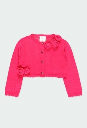 Casaco tricot para o bebé menina_1