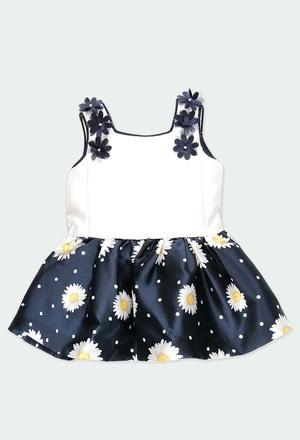 Vestido suspensórios combinado do bébé_1