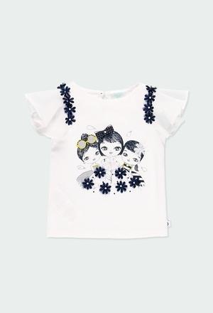 T-Shirt tricot combiné pour bébé fille_1
