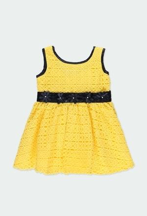 Kleid gipurgestrickt blumen für baby mädchen_1