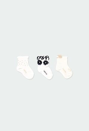 Pack meias curtas para o bebé menina_1