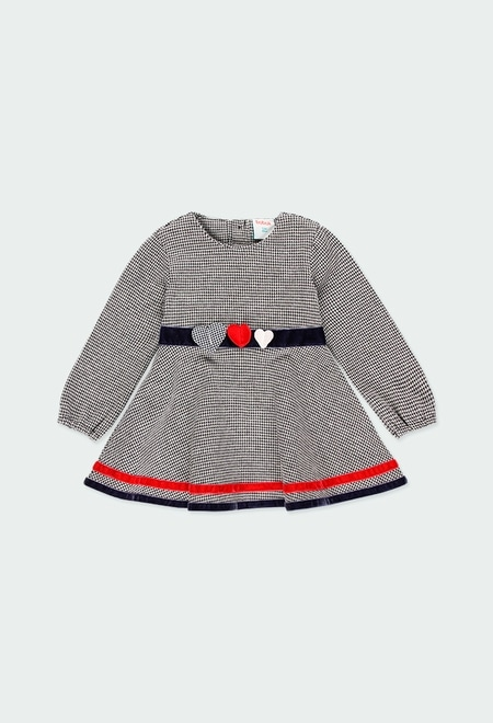 Knit dress for baby girl_1
