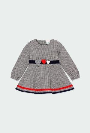Vestido malha para o bebé menina_1