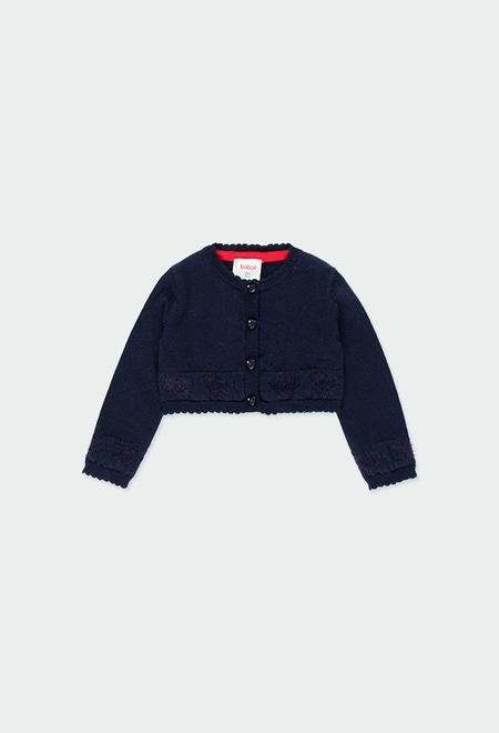 Chaqueta tricotosa corazones de bebé_1