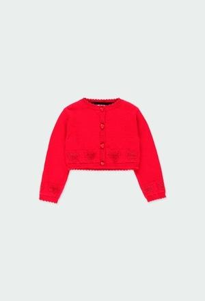 Casaco tricot corações do bébé_1