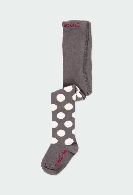 Thick tights polka dot for baby girl_1