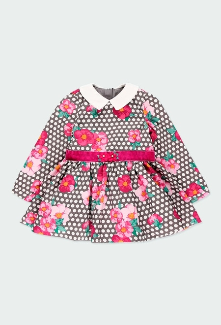 "Dress fantasy ""floral"" for baby girl_1"