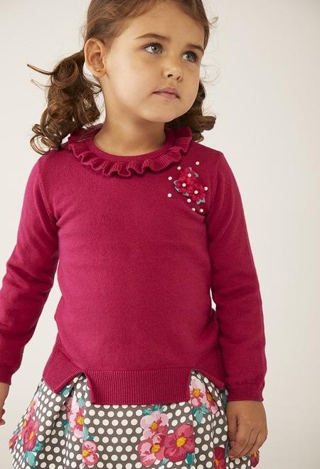 Vestido combinado de bebé niña_1
