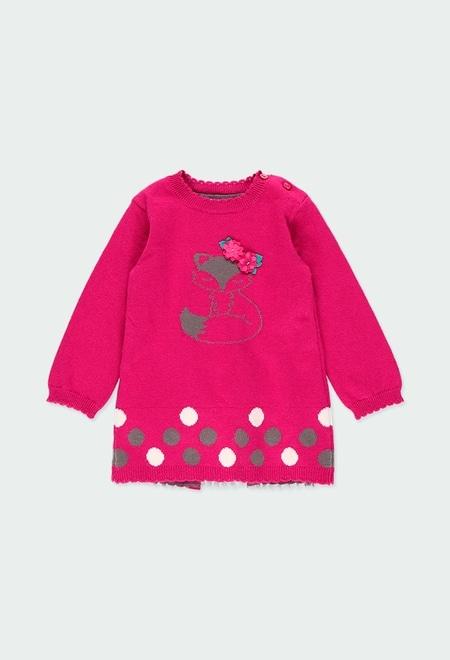 Vestido tricot combinado do bébé_1