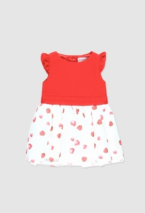 Vestido piqué combinado de bebé niña_1