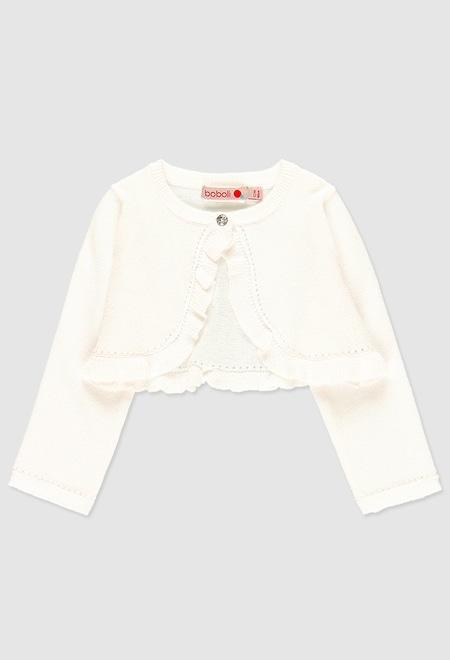 Boléro tricoté pour bébé fille_1
