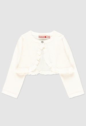 Knitwear bolero for baby girl_1