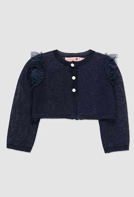 Chaqueta tricotosa de bebé niña_1