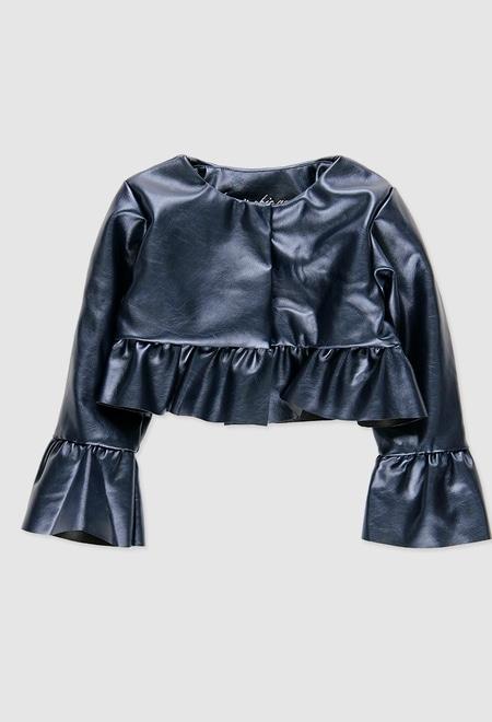 Veste cuir synthétique pour bébé fille_1