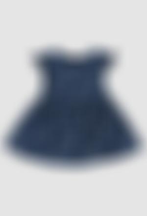 Vestido crepe fantasía de bebé niña
