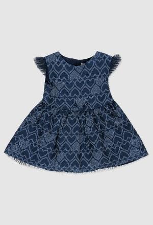 Vestido crepe fantasía de bebé niña_1