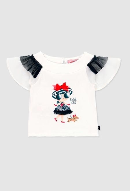 T-Shirt gestrickt kombiniert für baby mädchen_1