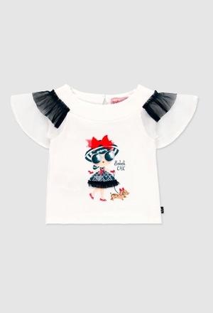 Camiseta punto combinada de bebé niña_1