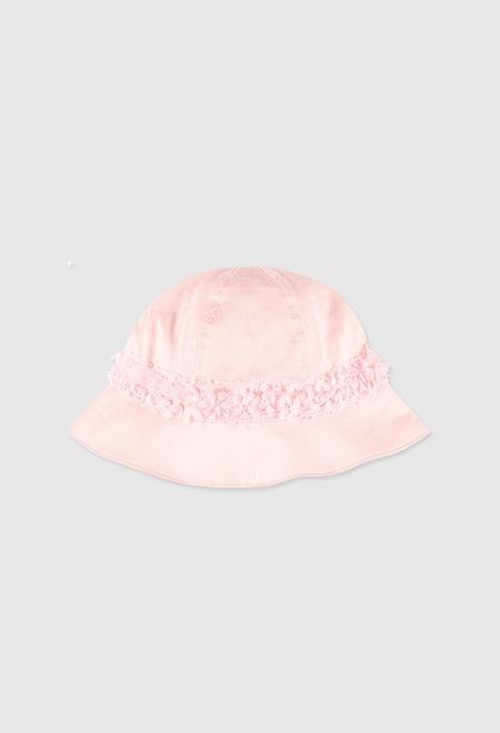Bonnet en satin pour bébé fille_1