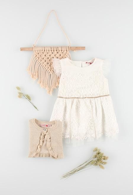 Robe en guipure pour bébé fille_1