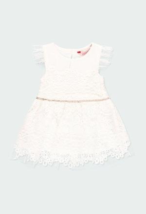 Vestido guipure de bebé niña_1