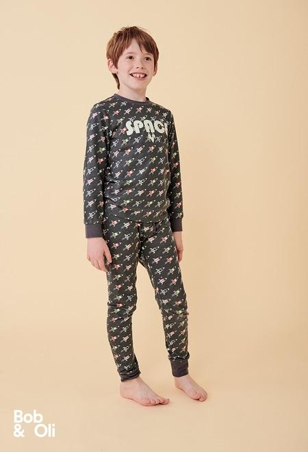 Pijama foguetes para menino - orgânico_1