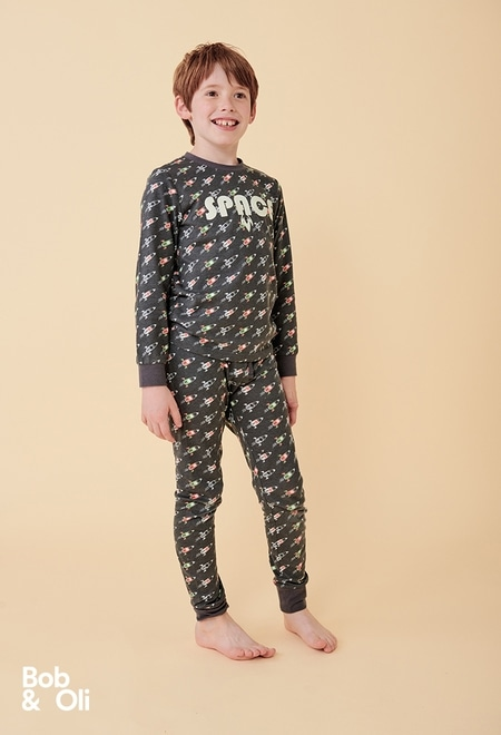 Schlafanzug raketen für junge - organic_1