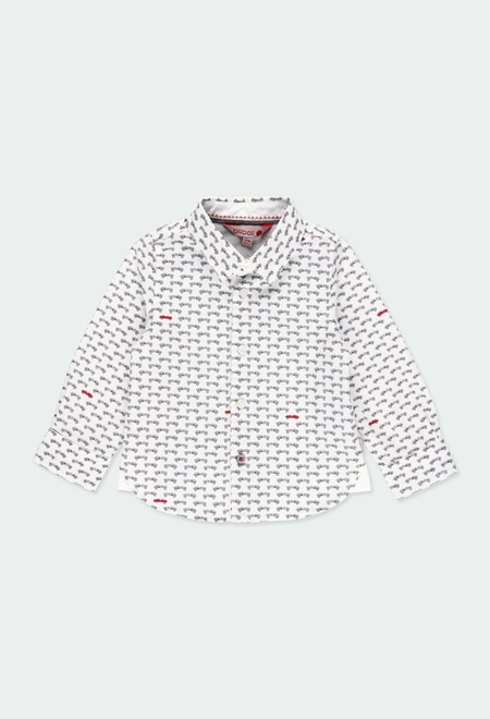 Hemd popelin autos für baby junge_1