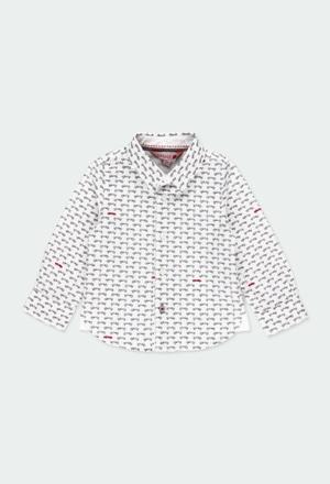 Poplin shirt cars for baby boy_1