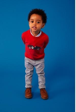 Pullover tricot com cotoveleiras do bébé_1