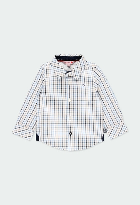 Poplin shirt check for baby boy_1