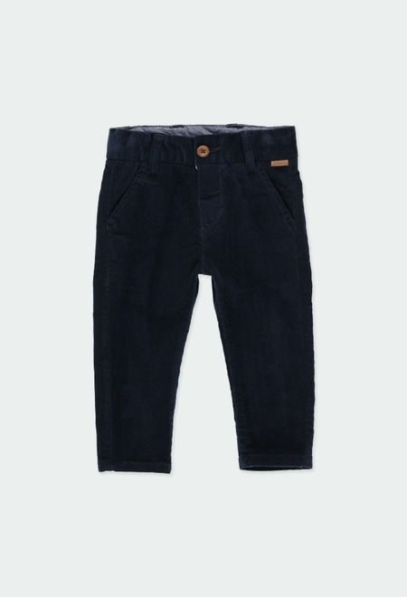 Microcorduroy trousers stretch for baby boy_1