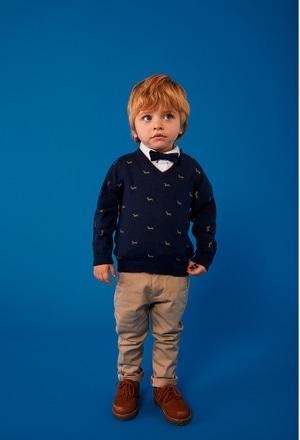 "Pullover tricot ""cachorro"" para o bebé menino_1"